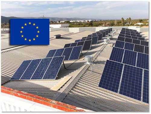 Aumenta la producción de energía solar en Europa