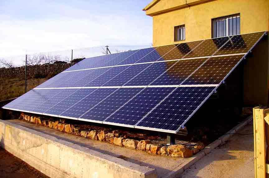 vivienda paneles solares