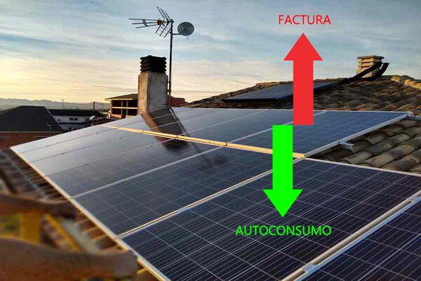 Solución para ahorrar en la nueva factura de la luz : autoconsumo fotovoltaico